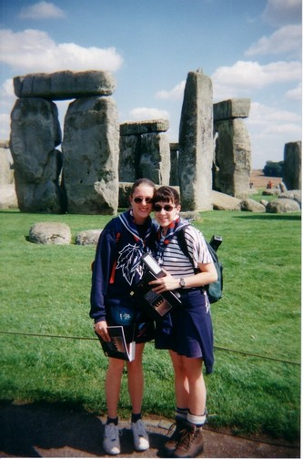 Stacey and I posing at Stonehenge, Aug. 1999